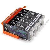 OfficeWorld Ersatz für Canon PGI-570PGBK PGI-570XL Druckerpatronen Hohe Kapazität Kompatibel mit Canon PIXMA MG5750 MG5751 MG5752 MG5753 MG6850 MG6851 MG6852 MG6853 TS5050 TS5051 TS5053 TS5055 TS6050 TS6051 TS6052 TS8050 TS8051 TS8052 TS8053 TS9050 TS9055
