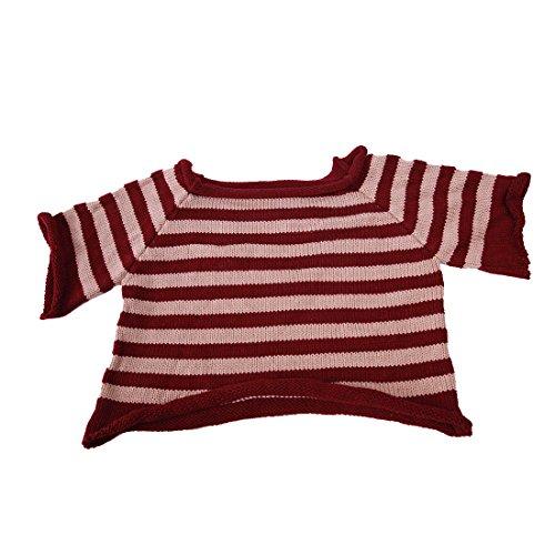 Kostüm Bär Rosa Große - Yatoy Puppen Pullover für Bär Plüschbär, Shirt für Teddybär 30 cm Kleidung Spielanzug Sweat shirt Kostüme Fits for Beige & Purple (about 11inches)