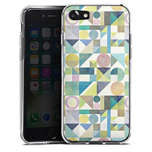 Apple iPhone X Silikon Hülle Case Schutzhülle Muster Grafisch Abstrakt Silikon Case transparent