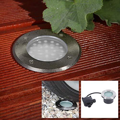 Sol en Vedette LED 2,4W | Encastrable Sol Sagace | Spot Encastrable Extérieur IP67 | Spot Ø 11cm | Extérieur Allée Terrasse Antichoc