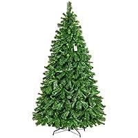 FairyTrees Arbre de Noël Artificiel Pin Tyrolien avec Support en Métal Matériau PVC 180cm, FT22-180
