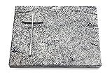 Generic Grabtafel, Grabplatte, Grabstein, Grabkissen, Urnengrabstein, Liegegrabstein Modell Pure 40 x 30 x 3-4 cm Viskont-White-Granit, Poliert inkl. Gravur (Aluminium-Ornament Kreuz 2)