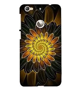 FUSON Orange Lotus Black Background 3D Hard Polycarbonate Designer Back Case Cover for LeEco Le 1s :: LeEco Le 1s Eco :: LeTV 1S