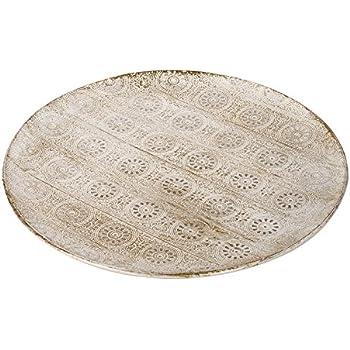 Rayher 46275000 Zink-Dekoteller Durchmesser  30 cm
