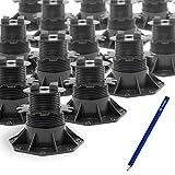 24 Stück Beko Platten-Stelzlager 60-140 mm