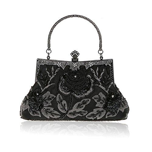 Höter Damen Handgemachte Perle Handtasche, Abendtasche Damen Clutch Für Party, Hochzeit (Spitzen-tasche)