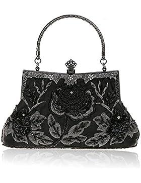 H:oter® Collection Damen Handgemachte Perle Handtasche, Abendtasche Damen Clutch Für Party, Hochzeit