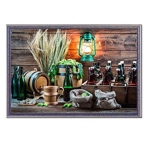 jzxjzx Lebensmittel Malerei Obst Poster Kaffee Wandkunst Leinwandbild Tee Wein Küche Wandmalerei Wohnkultur