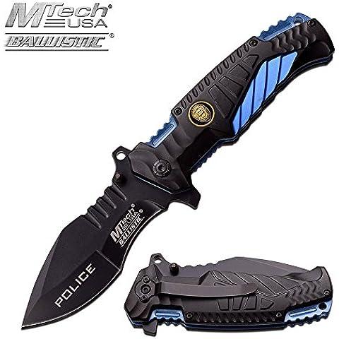Mtech USA Police Department Coltello tascabile pieghevole apertura rapida # mt-a944pd