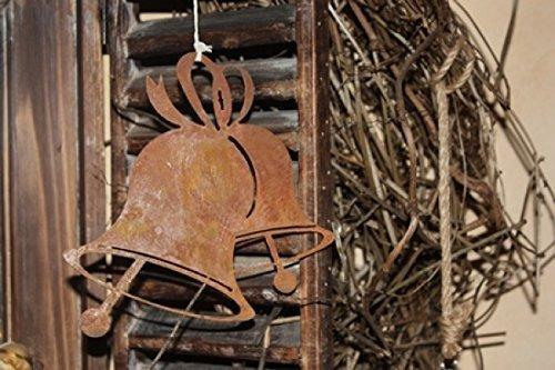 Rostikal Edelrost Glocke zum hängen, Weihnachtsdeko mit Pfiff zum selbst gestllten