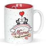 Sheepworld 45233 Tasse mit Motivdekor Mama - Ich Hab Dich Lieb! Du Bist Wunderbar!, Geschenktasse aus Steinzeug, 35 cl