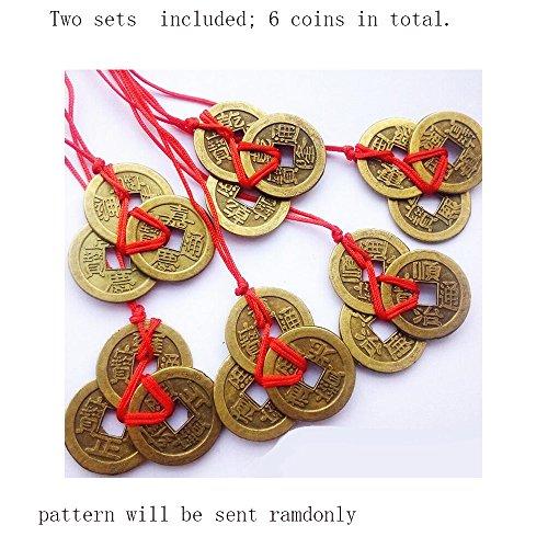 Philna12 Monedas chinas antiguas de Feng Shui de la suerte, la riqueza y el éxito