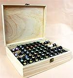 CHSEEA Ätherisches Öl Box Organisator Aufbewahrungsbox 68 Löcher Holzbox für Duftöle und Ätherische Öle Deal Geschenk für Geburtstage und Weihnachten #3