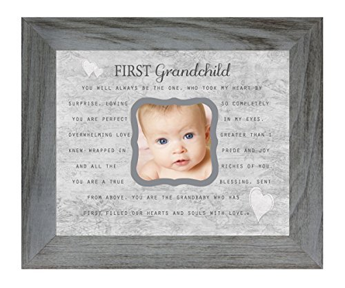 Erste Enkelkind Gedicht 20,3x 25,4cm Distressed Grau Bilderrahmen, hält 7,6cm Foto