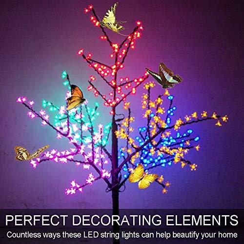 ngend Licht Dekorations Silber 120 LED 8 Modi IP65 Wasserdicht Innen und Außen für Weihnachten Hochzeit Party Zuhause ()