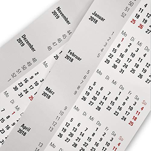 Truento Kalendarium für 2 Jahre (2020 & 2021) - passend für 3-Monats-Tischkalender mit Drehmechanik