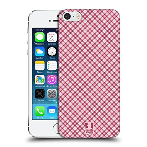 Head Case Designs Rosso Verde Plaid - Pattern Collezione Cover Retro Rigida per Apple iPhone 7 Plus / 8 Plus Rosa Intenso