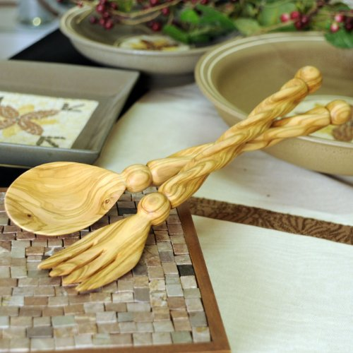 from-the-earth-olive-wood-salad-server-set-spiral-handle-fair-trade-handmade-by-fete-from-earth-to-e