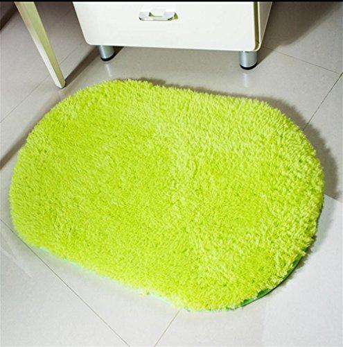 LYD® Teppichmatten Hausmaschine Waschbar Arktischer Samt Verdickt Teppich Fußpolster Küche Wohnzimmer Schlafzimmer Badetür Oval Schlitz Matratze Matte Matte Matratze Schlitz