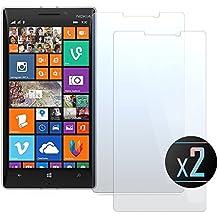 2 x Cristal Templado Protector de Pantalla Para Nokia Lumia 930 - NEVEQ® Vidrio Templado, el Nokia Lumia 930 (5) Pulgadas piel Protectora de la Cubierta.