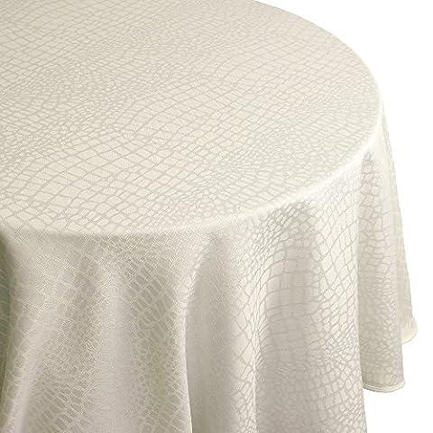 Nappe ovale 180x240 cm Jacquard 100% polyester LOUNGE ecru