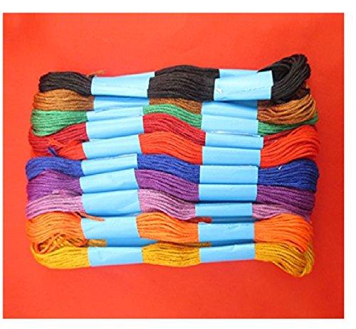 lrsupplies Marke neue Stickerei & Nähgarne Feinste Qualität alle Zweck Baumwolle Garnknäuel sortiert Farben für Kreuzstich-Flechten und handwerklichen BRACELATE wodurch