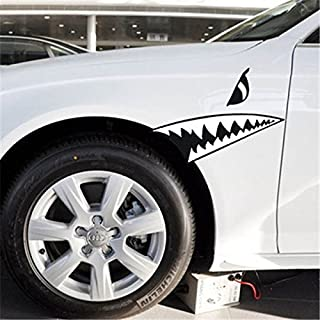 tianxiaw- lustig Auto Aufkleber Autofenster Wandtattoo Auto-Styling (1pcs) Haifischzähne