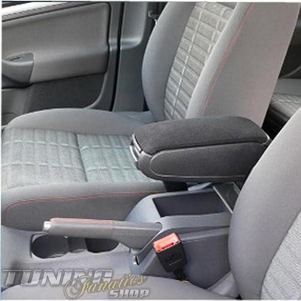 Mittelarmlehne Mittel Armlehne Mit Klappbarem Staufach Mittel Konsole Bezug Stoff Textil Fahrzeugspezifisch Farbe Schwarz Auto