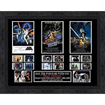 CUSTOM - Star Wars Trilogy film cell (1977,1980,1983) Filmcell, Once bought please add the NAME you would like engraved, thank you. by Filmcell.co.uk