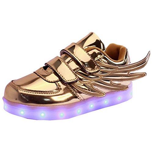 ACME-unisex-para-nio-diseo-de-chicas-jvenes-color-USB-con-luz-LED-luces-intermitentes-zapatillas-de-deporte-color-plateado-con-modelos-diseo-de-zapatillas-diseo-de-alas-de-ngel