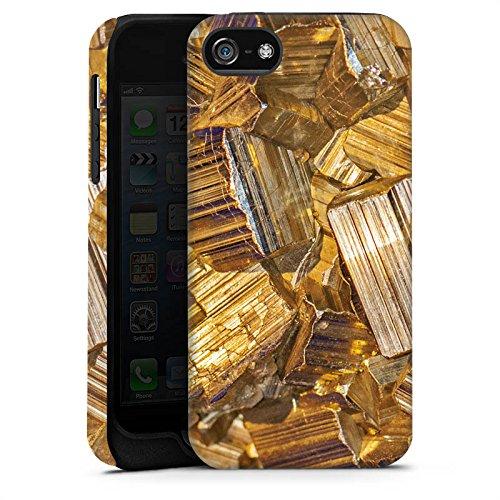 Apple iPhone 6 Housse Étui Silicone Coque Protection Or Pierre précieuse Bijoux Cas Tough terne