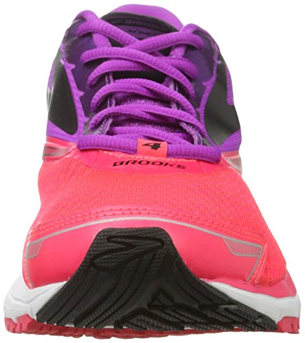 Brooks Launch 4, Chaussures de Course Femme Rose (Purplecactusflower/divapink/black)