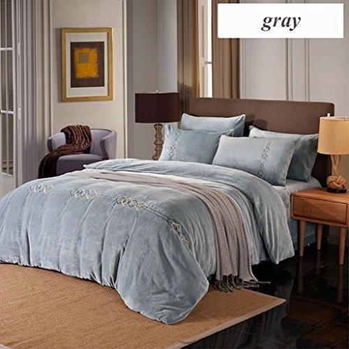 LongYu Betteinlagen Vier-Stück-Set luxuriös fein Komfortable Heimtextil Bettwäsche Quilt Hotel Flanell Luxus (Color : C, Size : 20*230cm) (20 Stück Tröster)