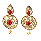 Red Zinc Alloy Designer and Trendy Earring