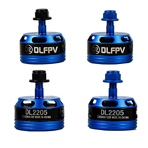 dlfpv 4 Brushless Motor dl2205 2300 KV CW 2 CCW für FPV Drone Racing Quadcopter 210 220 250 280, Herren, Blue,4PCS
