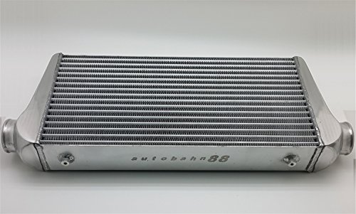 Autobahn88 Universal Front-Mount Intercooler FMIC, GT-Type, Kerngröße 600x300x100mm (24x12x4), Einlass/Auslass 76mm (3