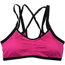 BOBORA Reggiseno sportivo Fitness elastica da allenamento,