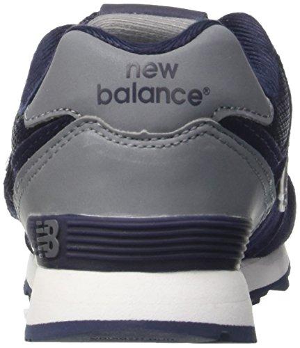 New Balance Unisex-Kinder Kv574cwy M Hook and Loop Sneakers Blau (Navy)