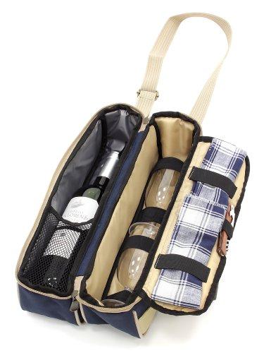 Preisvergleich Produktbild The Greenfield Collection WP002H Luxus Weinkühler für Zwei Personen in Midnight, blau