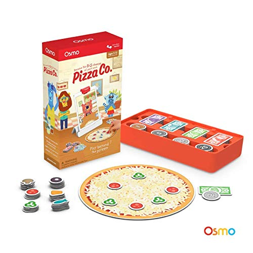 OSMO 902-00003 Pizza Co. (Ergänzungsspiel) Game-Alter: 5-12-Kommunikationskompetenz und Kopfrechnen-für iPad und Fire Tablet Basis Wird benötigt