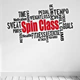 Best Motivational Wall Decals - Spin Class... Premium Motivational Wall Art Decal. Black Review