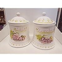 Jars estilo de uvas de sal y azúcar
