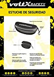 voltX Hardwearing Clamshell Safety Glasses Case and Safety Cord - With Belt Hook/Clip - Flock-Lined Bild 4
