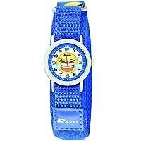 Ravel Emoji Horloge voor kinderen op blauw Gemakkelijk vast riem