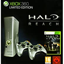 Xbox 360 - Konsole 250 GB, silber - Limited Edition inkl. Halo Reach + 2 Controller [PEGI]