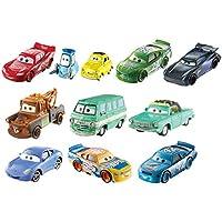 Cars 3 - Pack de 10 Coches diecas, Coches de Juguete (Mattel FHC89)