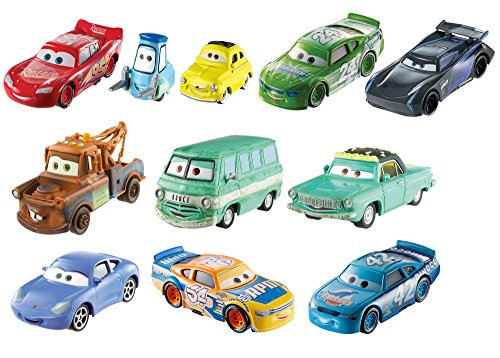 Mattel Disney Cars FHC89 Disney Cars 3 Die-Cast 10er-Geschenkset, verschieden