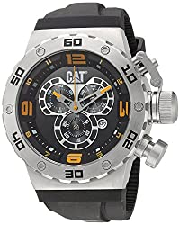 CAT WATCHES Men's 'DS49' Quartz Stainless Steel and Silicone Casual, Color:Black (Model: DS14321127)