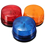 Imported 12V Round Safety Alarm Security Post Caution Flash Warning LED Light 3 Colors - red, 3 x 2