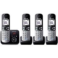 Panasonic KX-TG6824GB - Teléfono (120 entradas, LCD, 103 x 65 Pixeles, Monocromo, 107 x 77 x 86 mm, 46 x 160 x 30 mm) [Importado de Alemania]